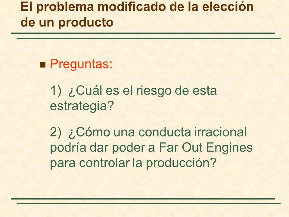 El problema modificado de la elección de un producto