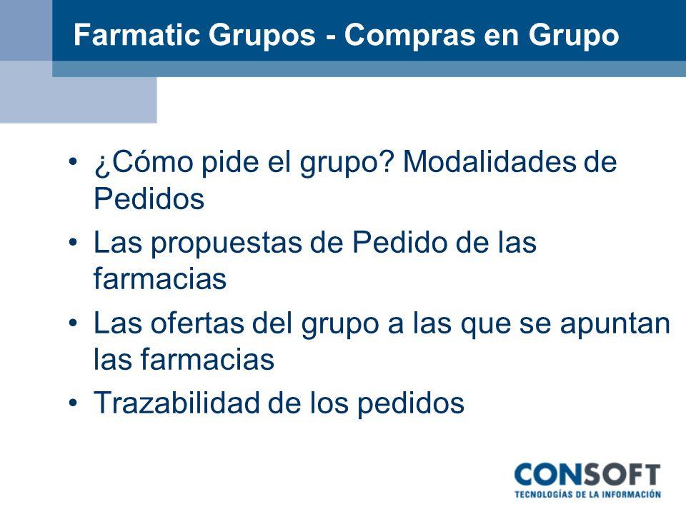 Farmatic Grupos - Compras en Grupo
