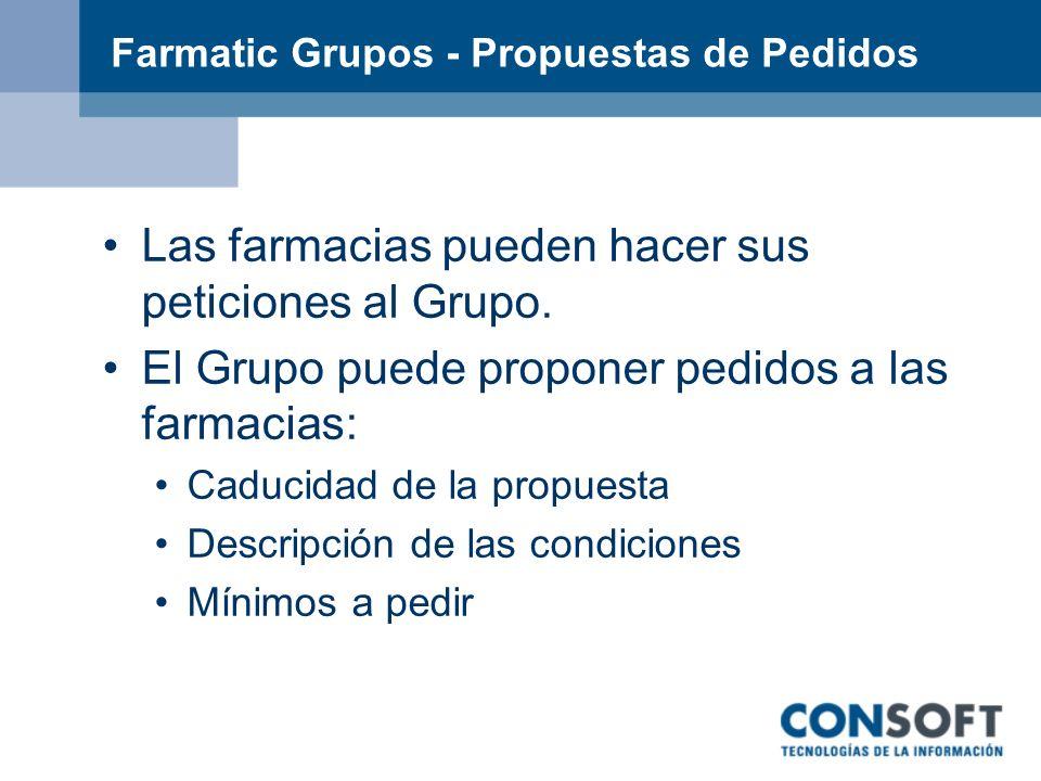 Farmatic Grupos - Propuestas de Pedidos