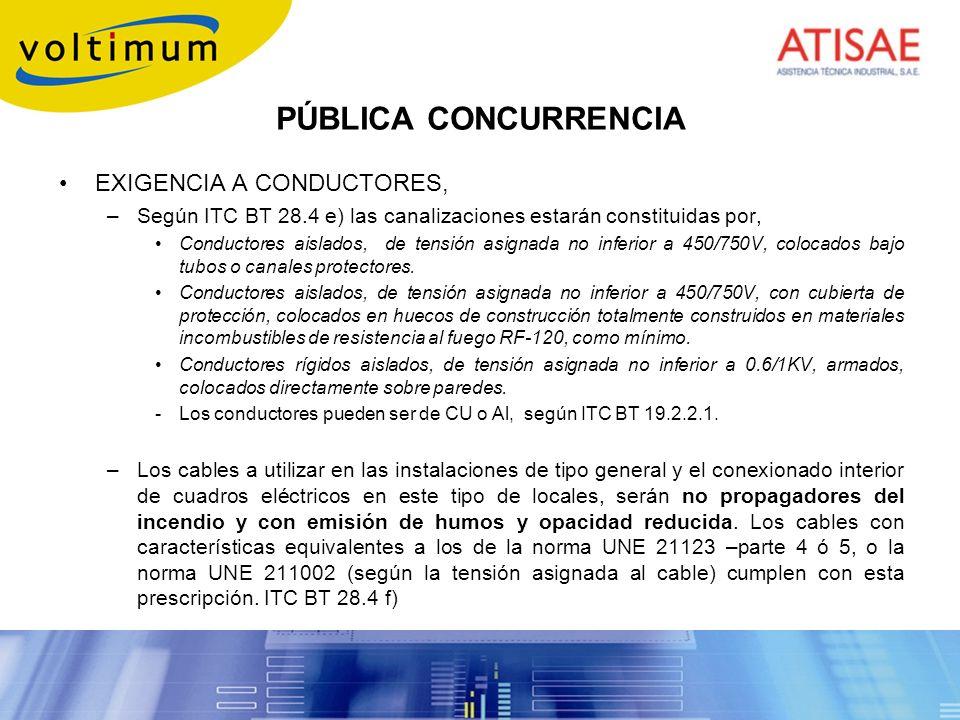PÚBLICA CONCURRENCIA EXIGENCIA A CONDUCTORES,