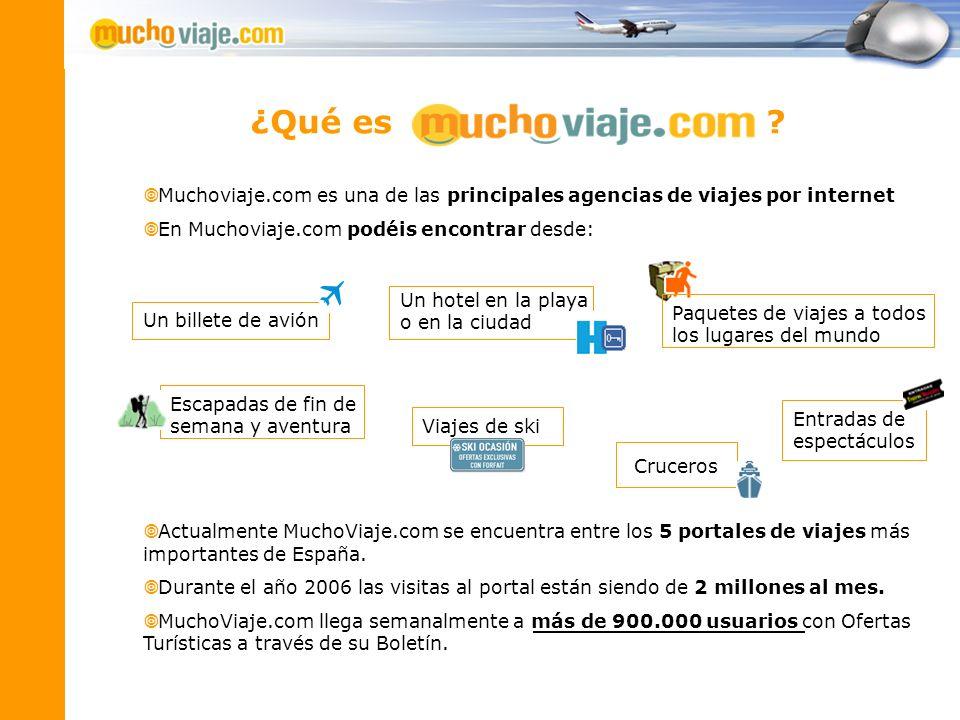 ¿Qué es Muchoviaje.com es una de las principales agencias de viajes por internet.
