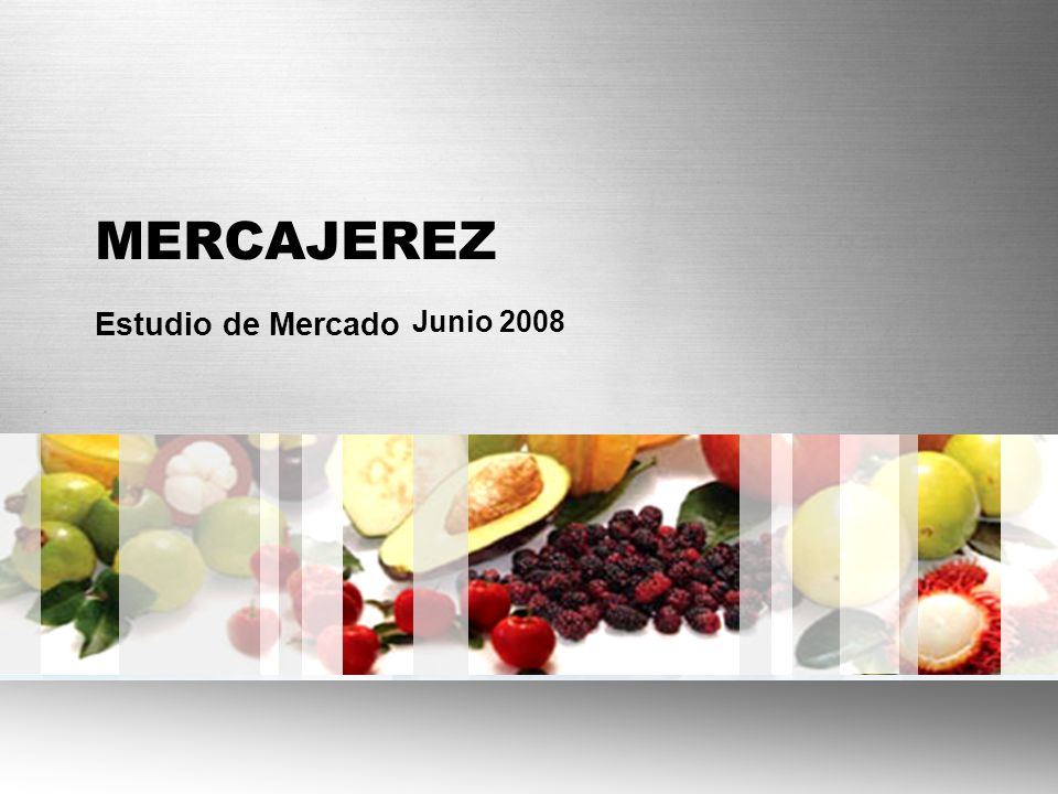 MERCAJEREZ Estudio de Mercado Junio 2008