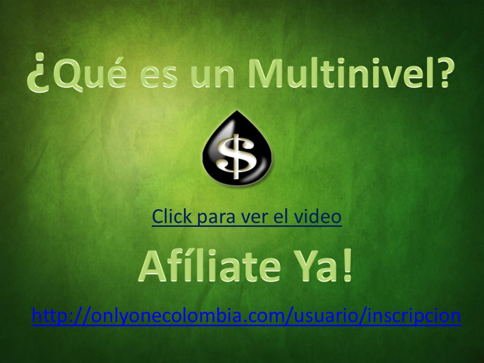 ¿Qué es un Multinivel Afíliate Ya! Click para ver el video