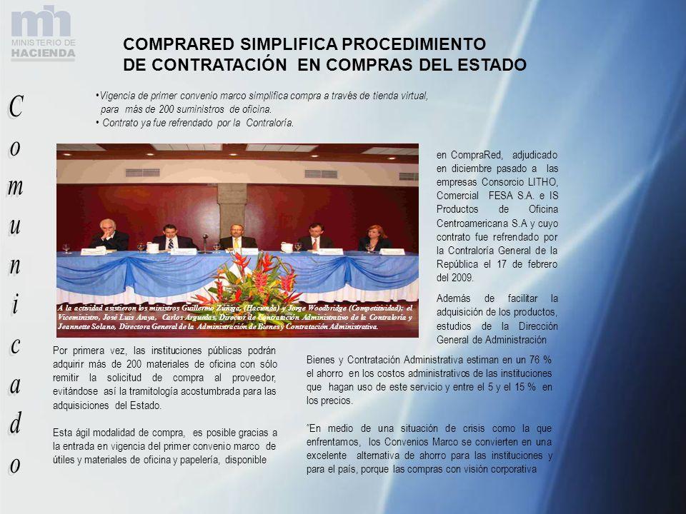 Comunicado COMPRARED SIMPLIFICA PROCEDIMIENTO