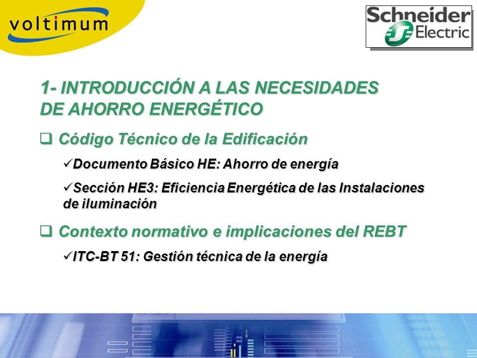 1- INTRODUCCIÓN A LAS NECESIDADES DE AHORRO ENERGÉTICO