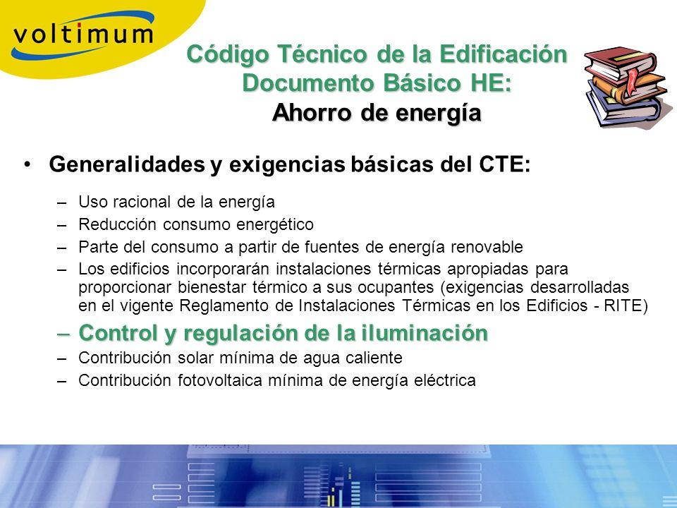 Código Técnico de la Edificación Documento Básico HE: Ahorro de energía