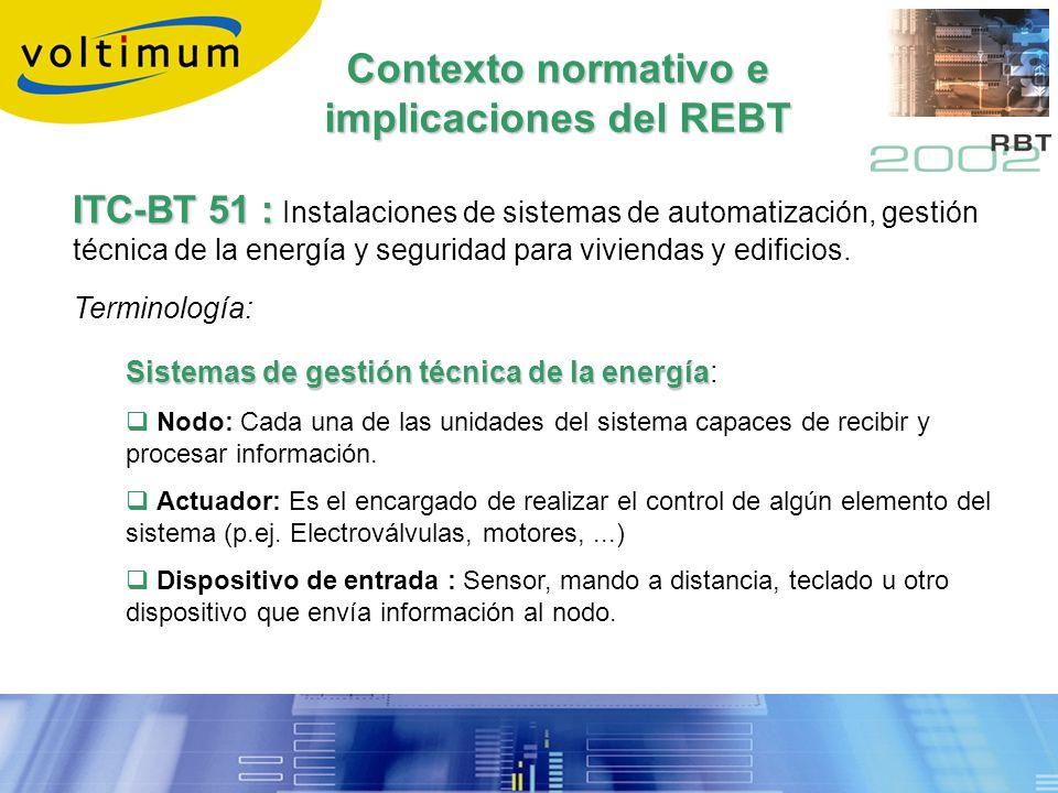 Contexto normativo e implicaciones del REBT