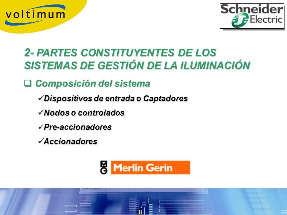 2- PARTES CONSTITUYENTES DE LOS SISTEMAS DE GESTIÓN DE LA ILUMINACIÓN