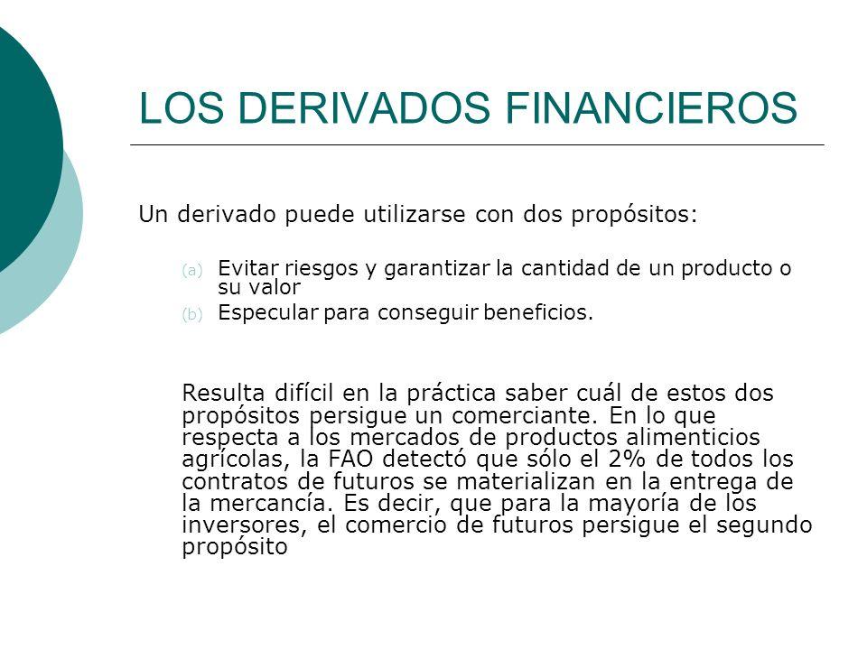 LOS DERIVADOS FINANCIEROS