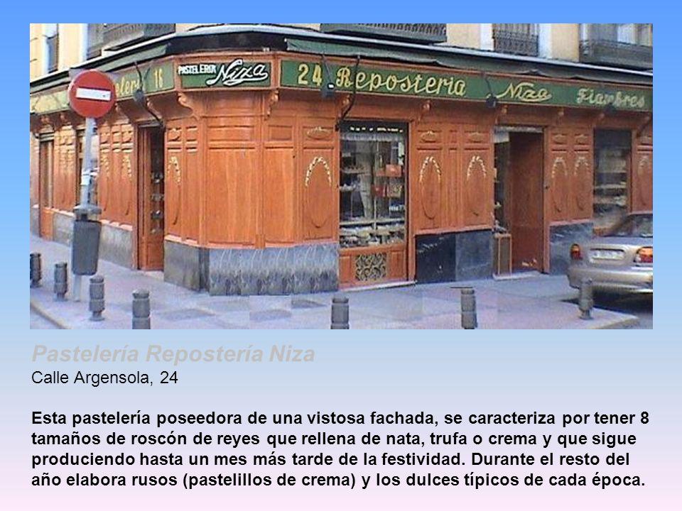 Pastelería Repostería Niza Calle Argensola, 24