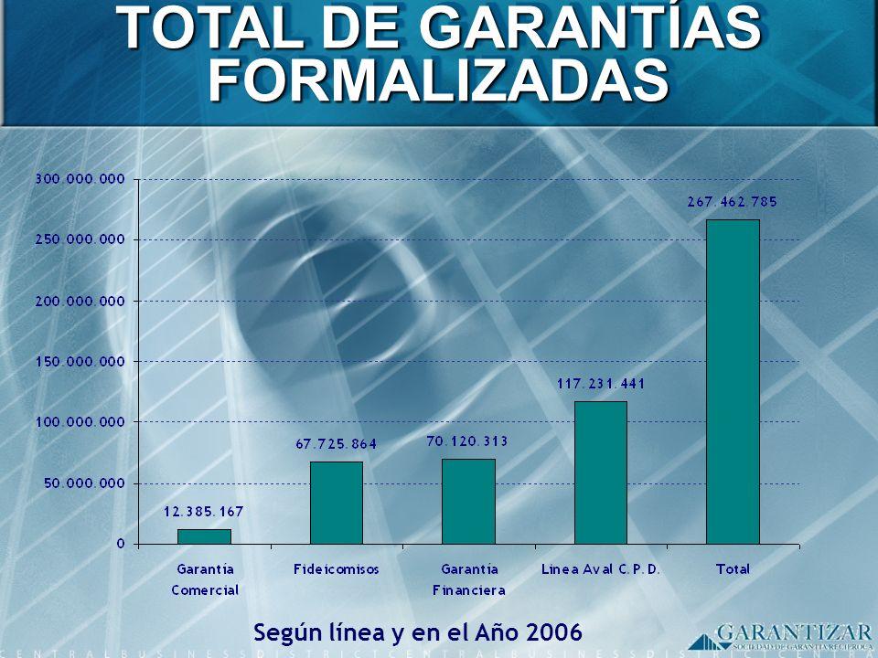 TOTAL DE GARANTÍAS FORMALIZADAS