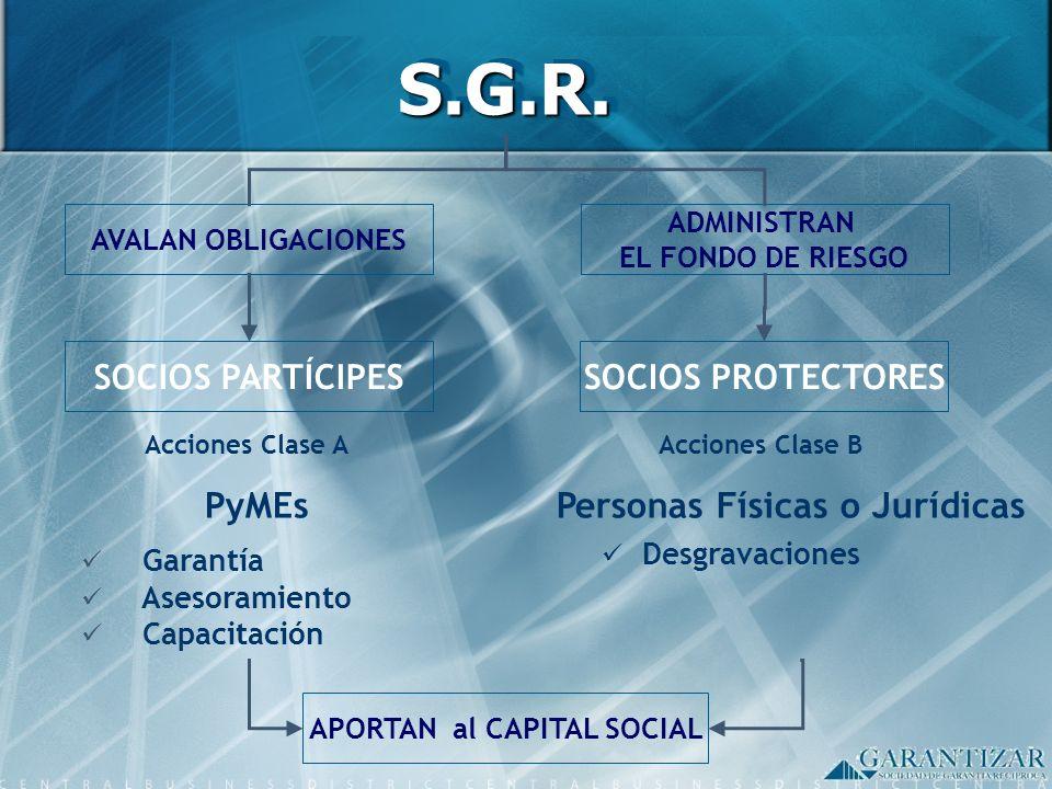 Personas Físicas o Jurídicas APORTAN al CAPITAL SOCIAL
