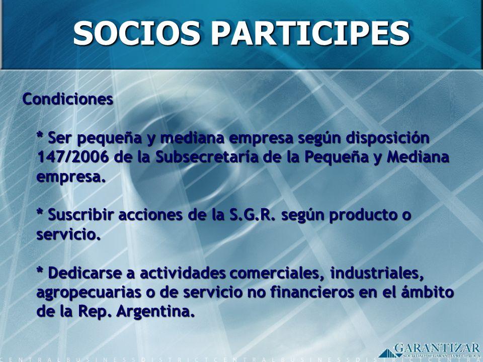 SOCIOS PARTICIPES