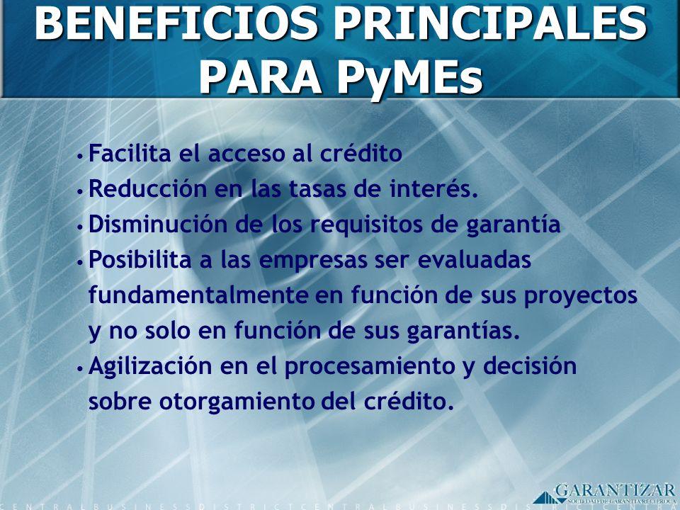 BENEFICIOS PRINCIPALES PARA PyMEs