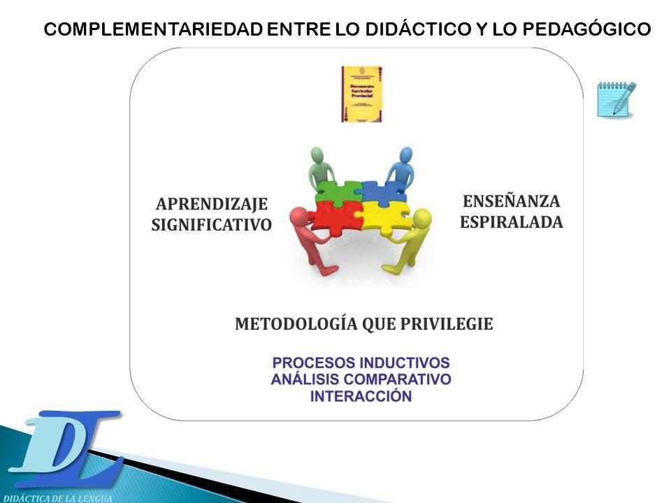 COMPLEMENTARIEDAD ENTRE LO DIDÁCTICO Y LO PEDAGÓGICO