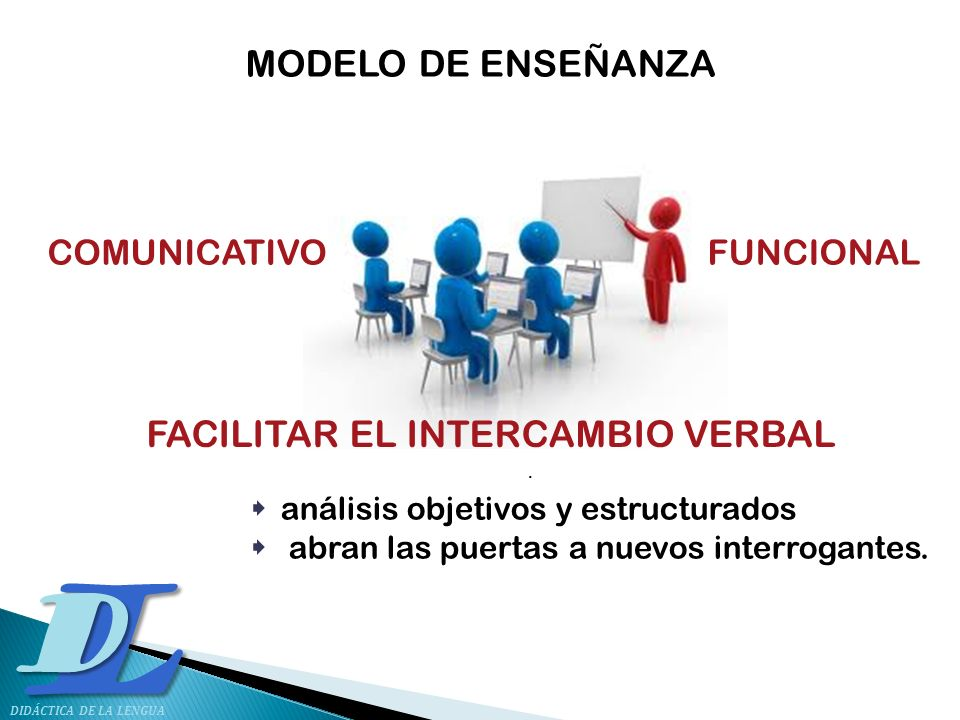 FACILITAR EL INTERCAMBIO VERBAL .
