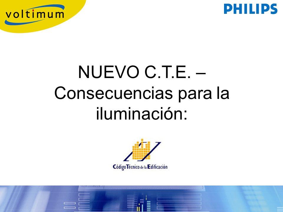 NUEVO C.T.E. – Consecuencias para la iluminación: