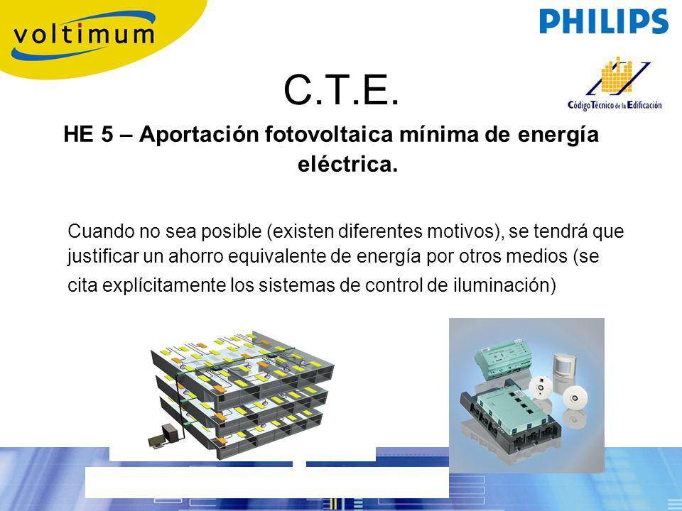 HE 5 – Aportación fotovoltaica mínima de energía eléctrica.