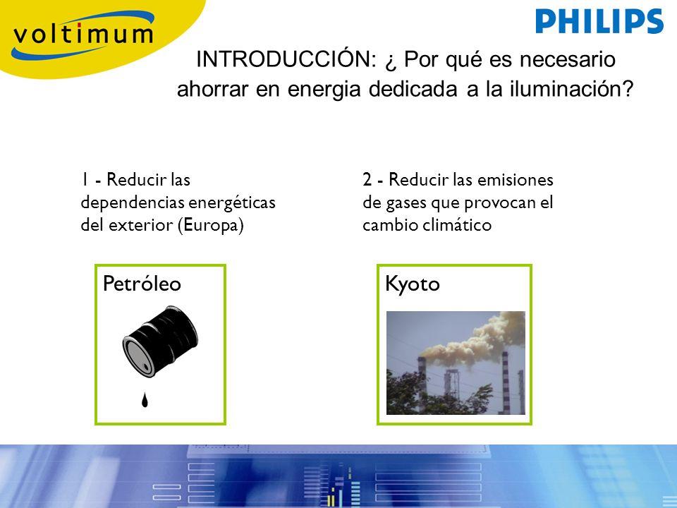 INTRODUCCIÓN: ¿ Por qué es necesario ahorrar en energia dedicada a la iluminación