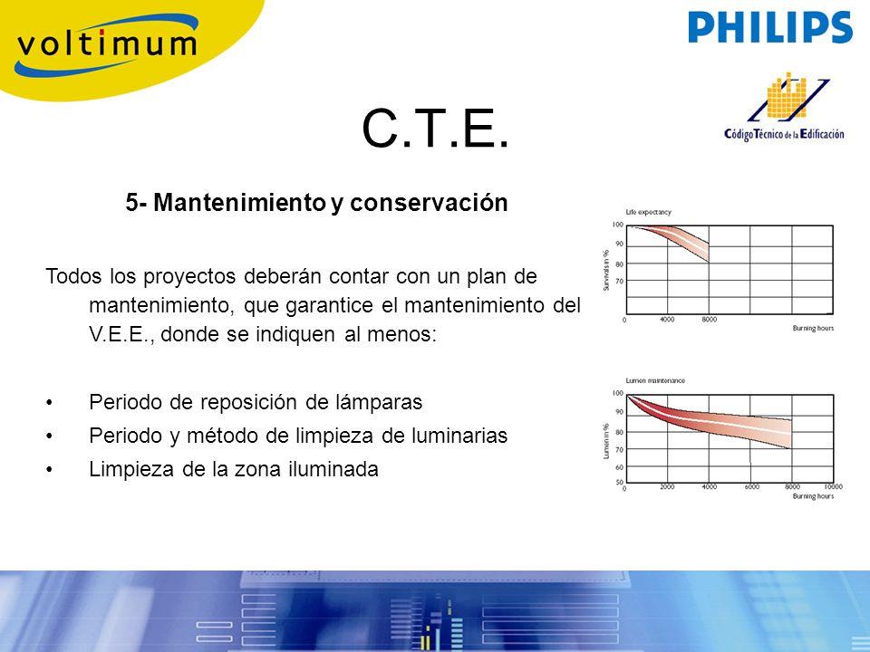 5- Mantenimiento y conservación