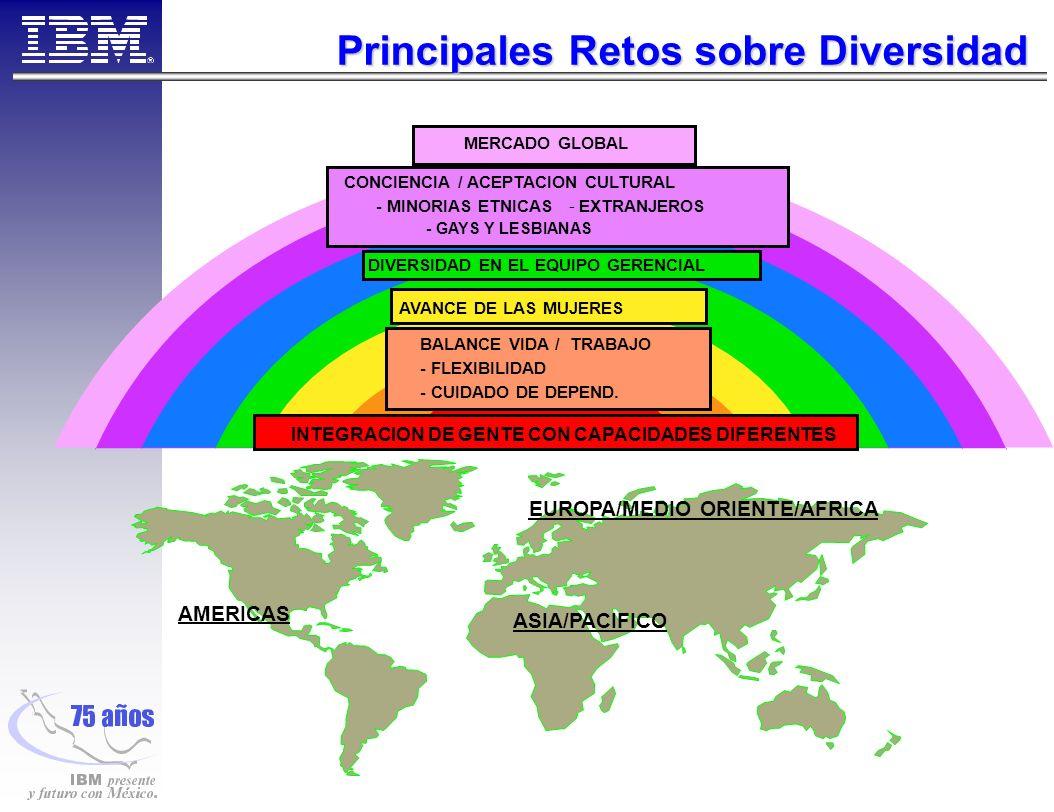 Principales Retos sobre Diversidad