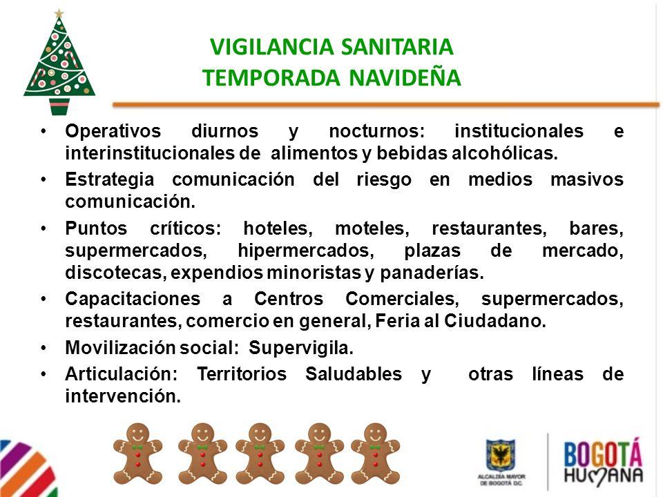 VIGILANCIA SANITARIA TEMPORADA NAVIDEÑA