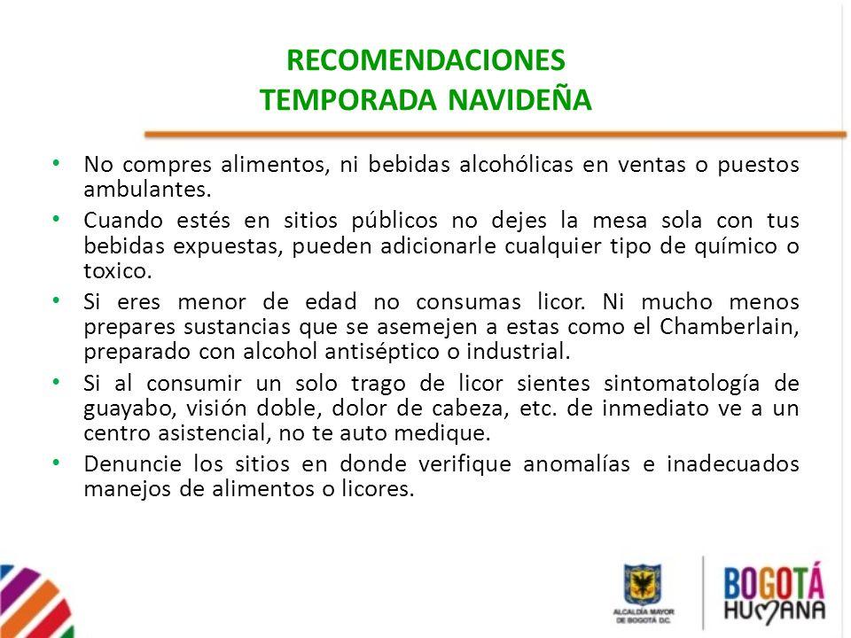 RECOMENDACIONES TEMPORADA NAVIDEÑA