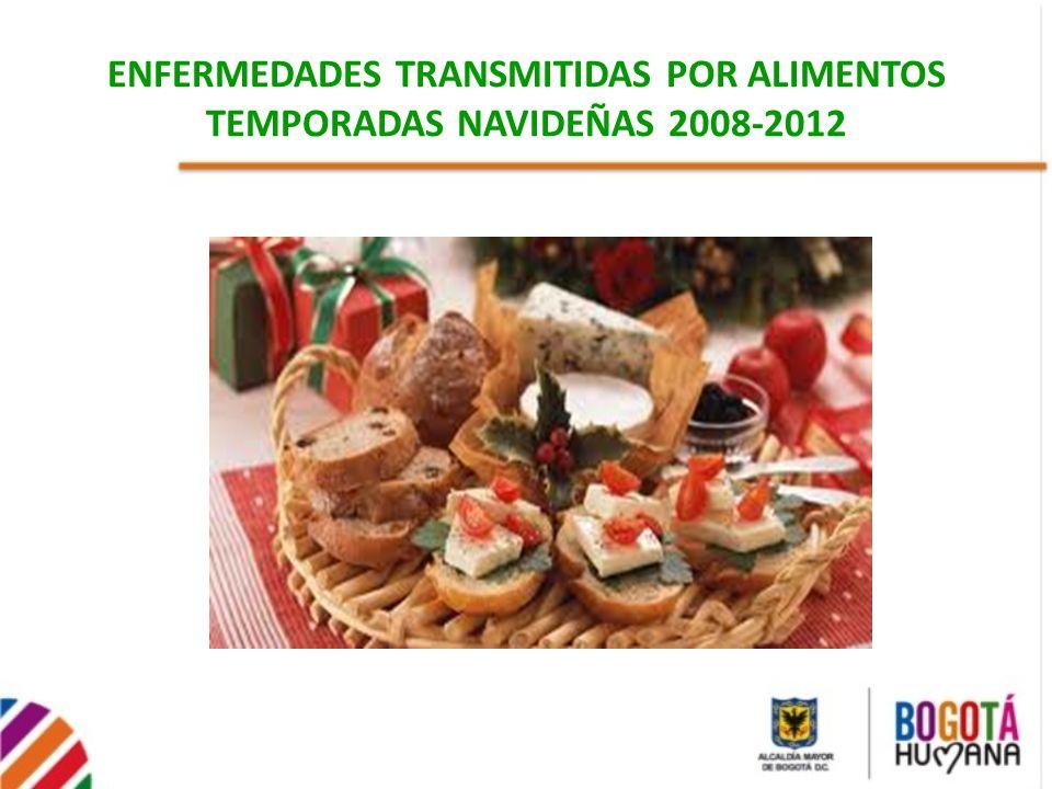 ENFERMEDADES TRANSMITIDAS POR ALIMENTOS TEMPORADAS NAVIDEÑAS 2008-2012