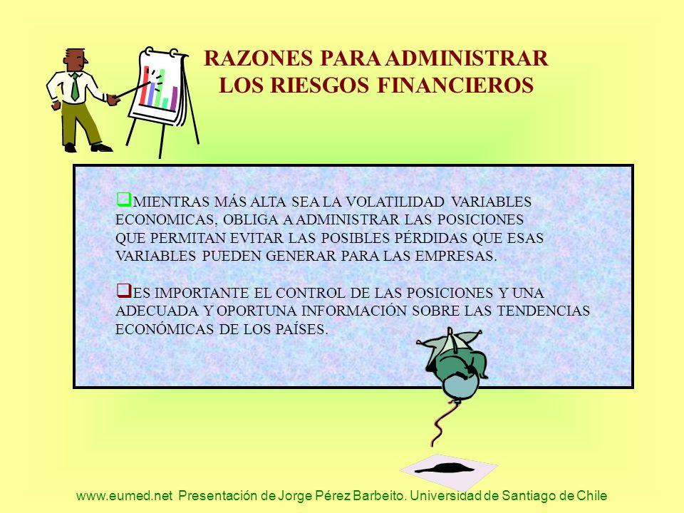 RAZONES PARA ADMINISTRAR LOS RIESGOS FINANCIEROS