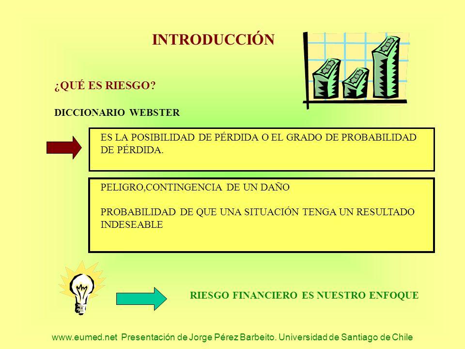 INTRODUCCIÓN ¿QUÉ ES RIESGO DICCIONARIO WEBSTER