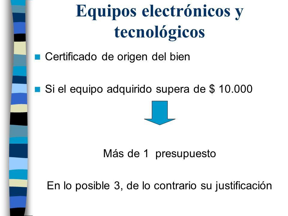 Equipos electrónicos y tecnológicos