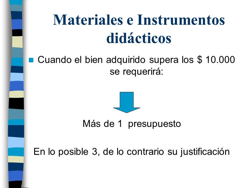Materiales e Instrumentos didácticos