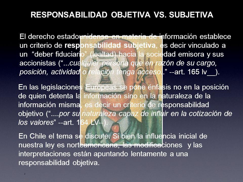 RESPONSABILIDAD OBJETIVA VS. SUBJETIVA