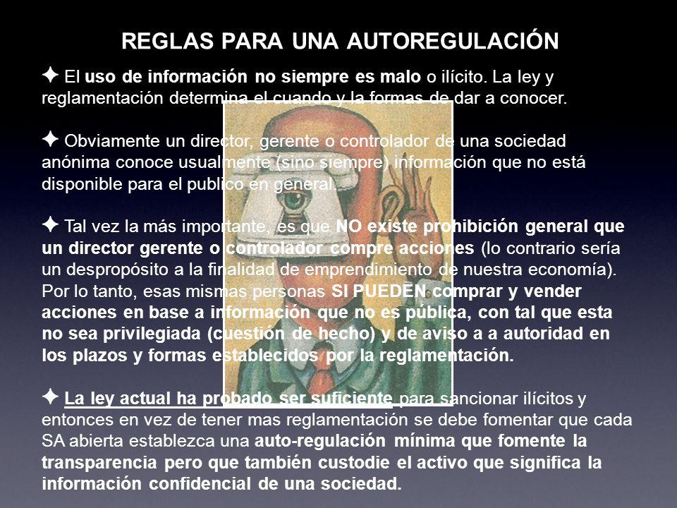 REGLAS PARA UNA AUTOREGULACIÓN