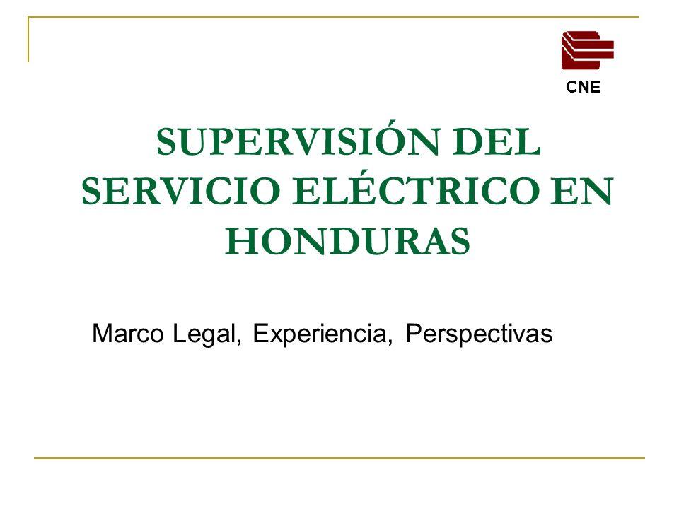 SUPERVISIÓN DEL SERVICIO ELÉCTRICO EN HONDURAS