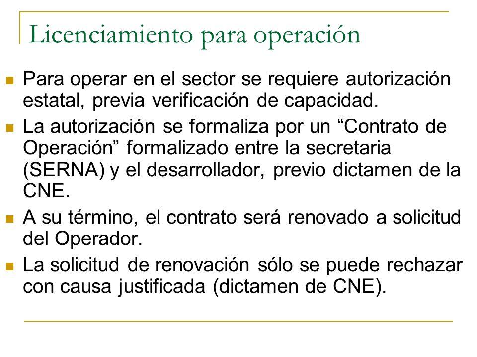 Licenciamiento para operación