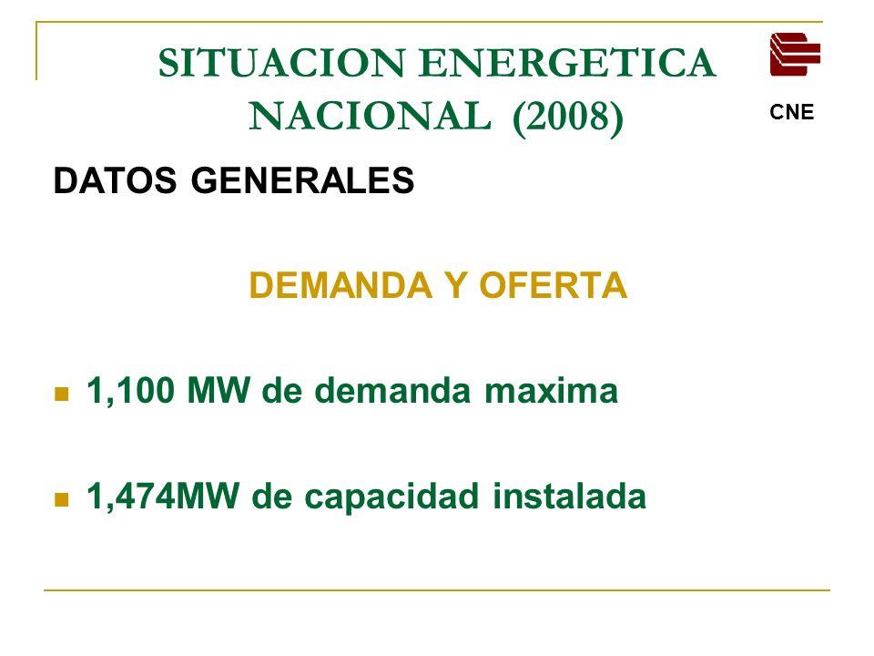 SITUACION ENERGETICA NACIONAL (2008)