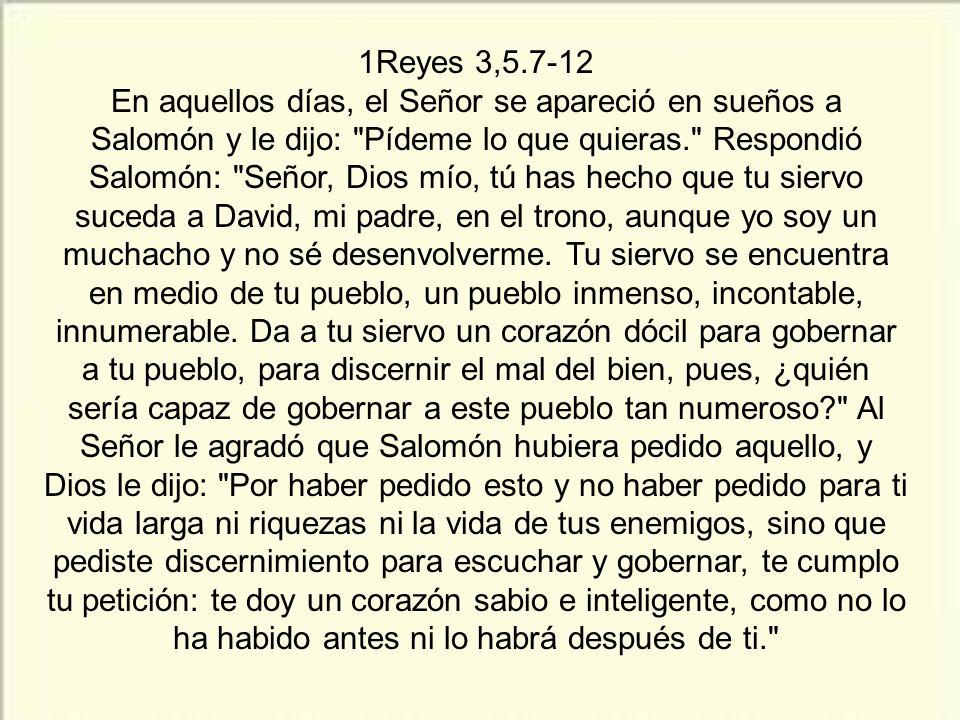 1Reyes 3,5.7-12