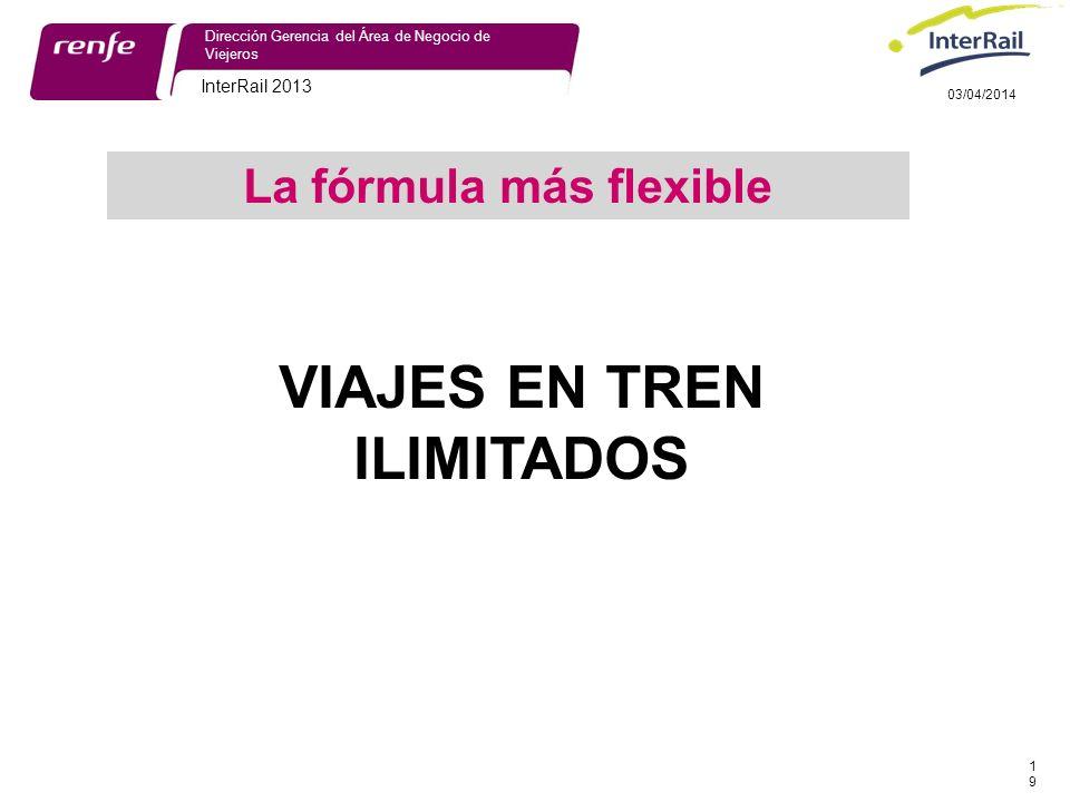 La fórmula más flexible VIAJES EN TREN ILIMITADOS