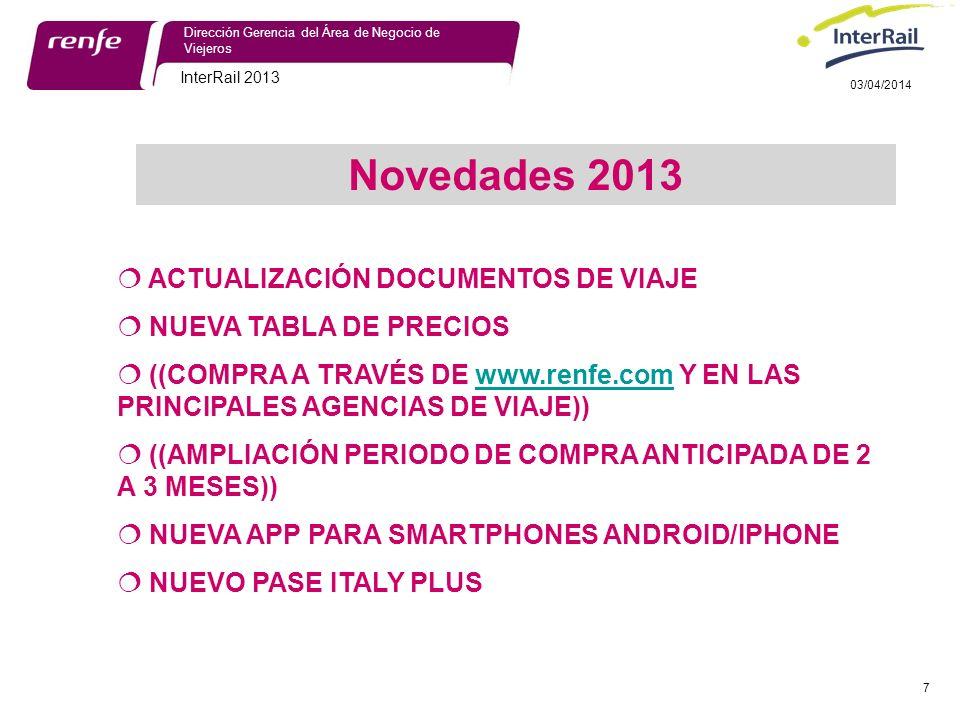 Novedades 2013 ACTUALIZACIÓN DOCUMENTOS DE VIAJE