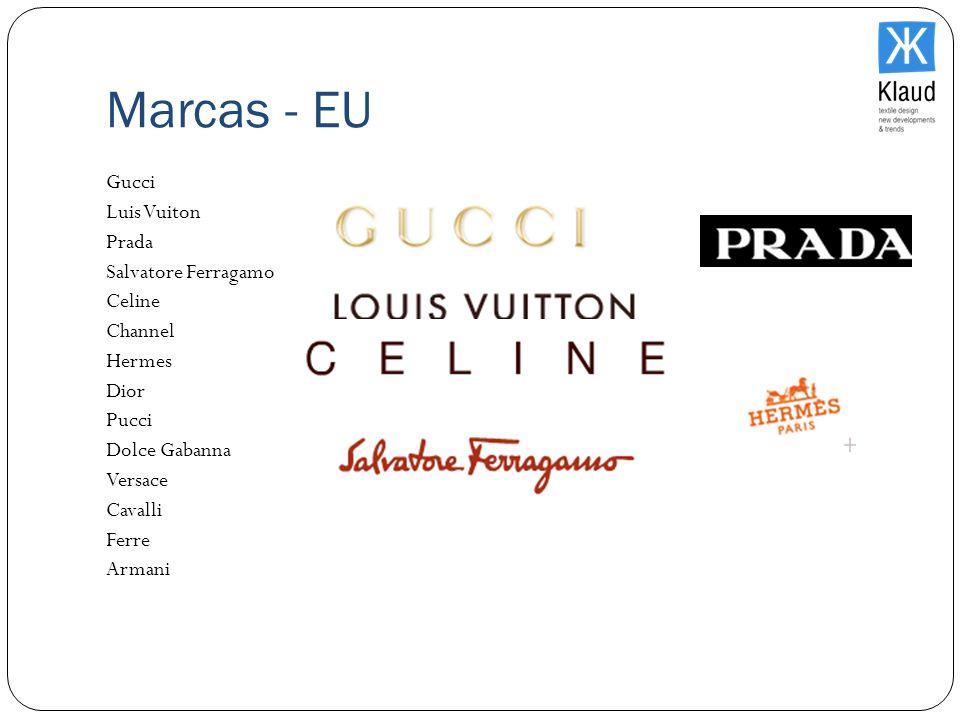 Marcas - EU Gucci Luis Vuiton Prada Salvatore Ferragamo Celine Channel