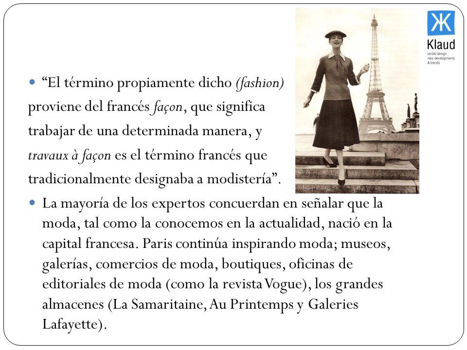 El término propiamente dicho (fashion)