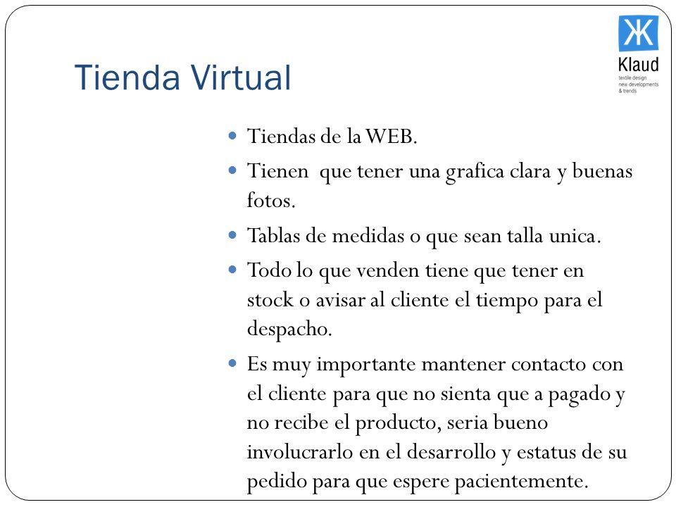 Tienda Virtual Tiendas de la WEB.