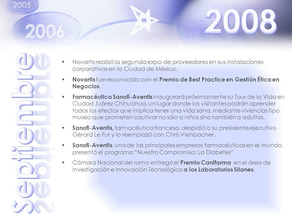 2008 Novartis realizó la segunda expo de proveedores en sus instalaciones corporativas en la Ciudad de México.