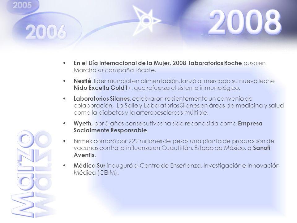 2008 En el Día Internacional de la Mujer, 2008 laboratorios Roche puso en Marcha su campaña Tócate.