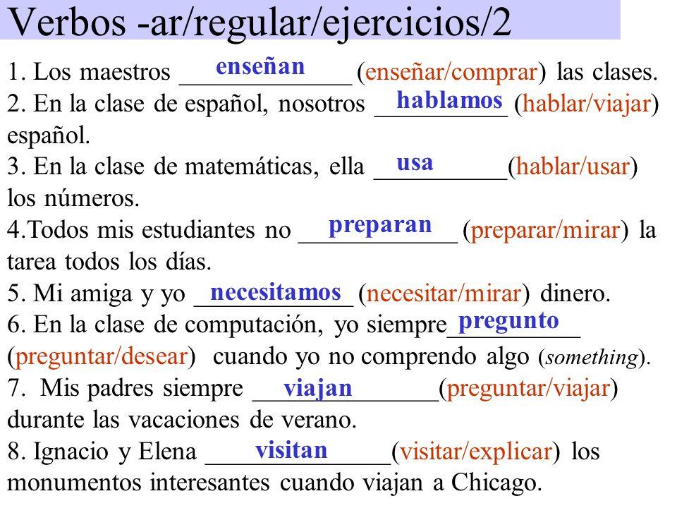 Verbos -ar/regular/ejercicios/2