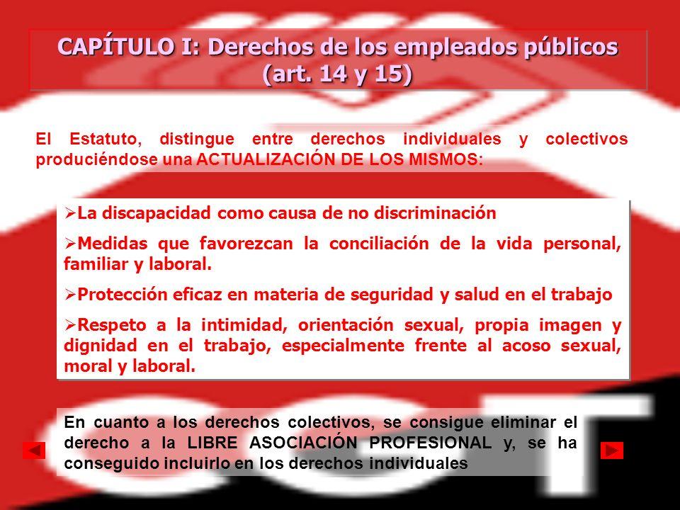 CAPÍTULO I: Derechos de los empleados públicos (art. 14 y 15)