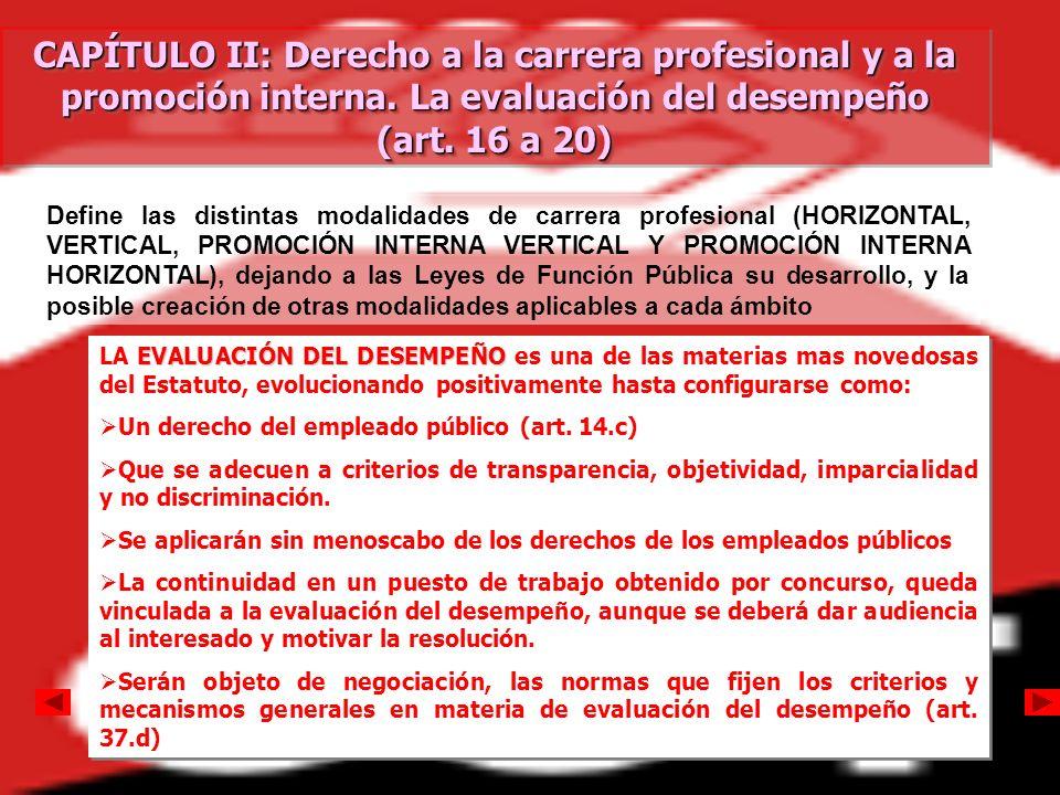 CAPÍTULO II: Derecho a la carrera profesional y a la promoción interna