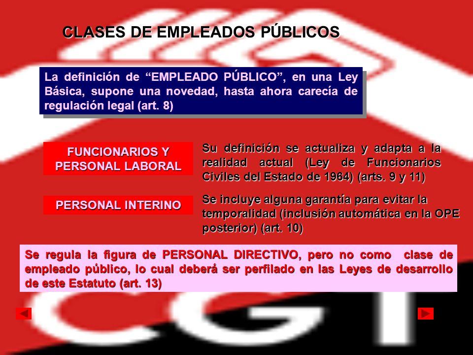 CLASES DE EMPLEADOS PÚBLICOS FUNCIONARIOS Y PERSONAL LABORAL
