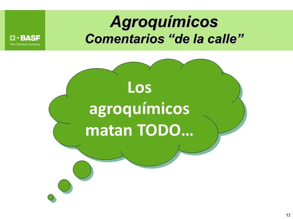 Comentarios de la calle Los agroquímicos matan TODO…